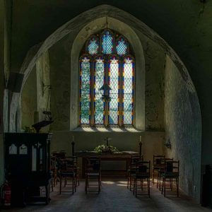 Church Interior South Transept Twilight Window Woolfardisworthy