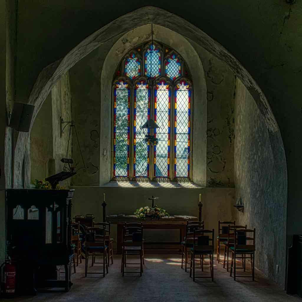 Church Interior South Transept Twilight Window Woolfardisworthy