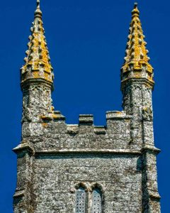 Church Tower Granite Stone Carving Pinnacles Medieval 15th Century Bradstone