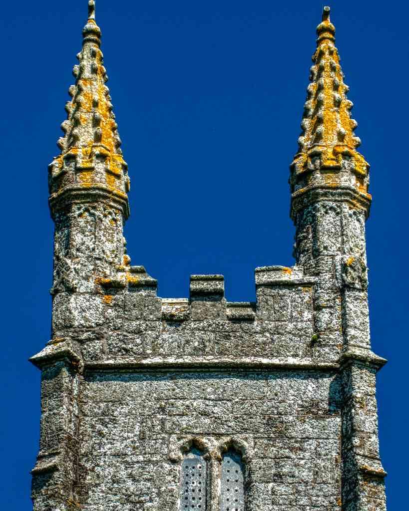 The orange lichened pinnacles…