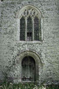 Church Tower Granite Stonework West Door Window Medieval 15th Century Bradstone