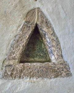 Holy Water Stoup Norman Saxon Stonework Stone Medieval Bradstone