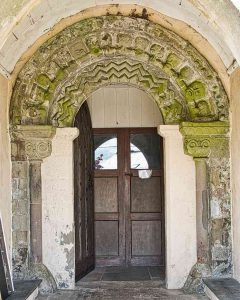 Norman Door Doorway Beakheads Chevrons 13th Century Medieval Stone Carving Plain Woolfardisworthy