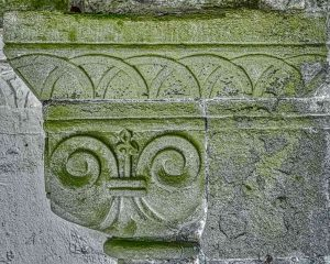 Norman Door Doorway Capital Fleur De Lys 13th Century Medieval Stone Carving Plain Woolfardisworthy