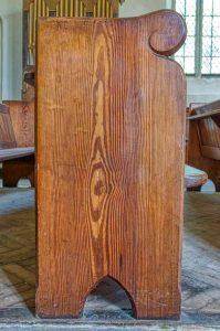 Pew Benchend Douglas Fir Carving Wood Plain Bradstone