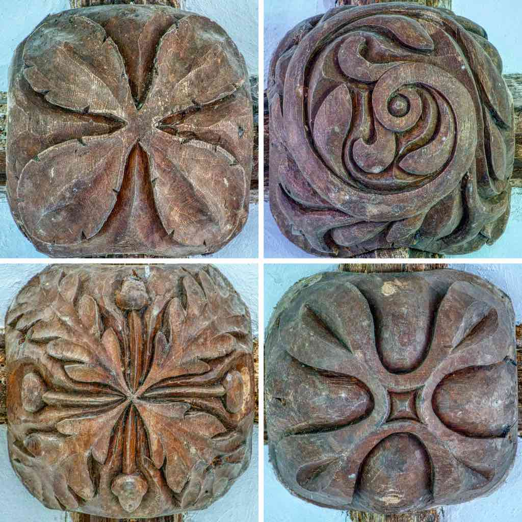 18th century roofbosses, simple and strong.