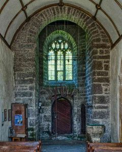 Tower Arch Church Interior Grey Stone Stonework Bradstone