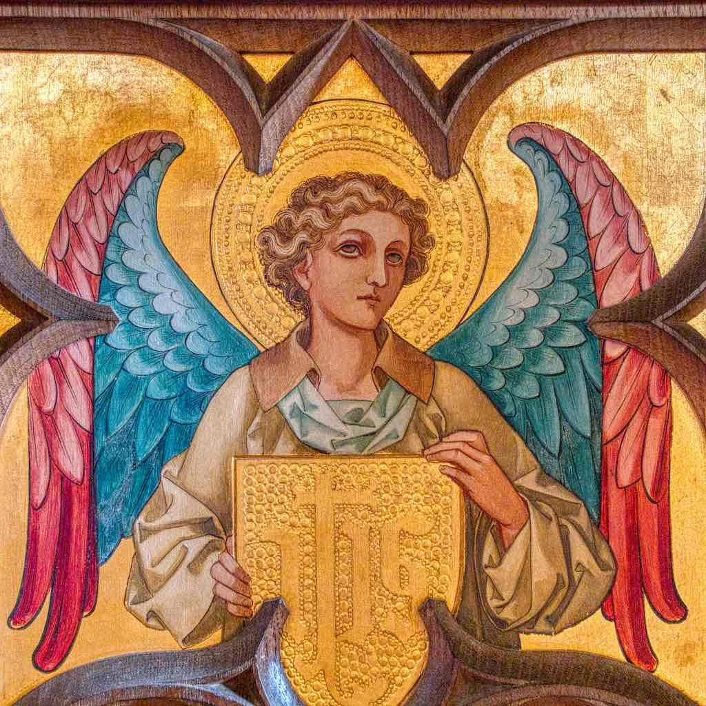 A pretty angel giving a good eye roll.