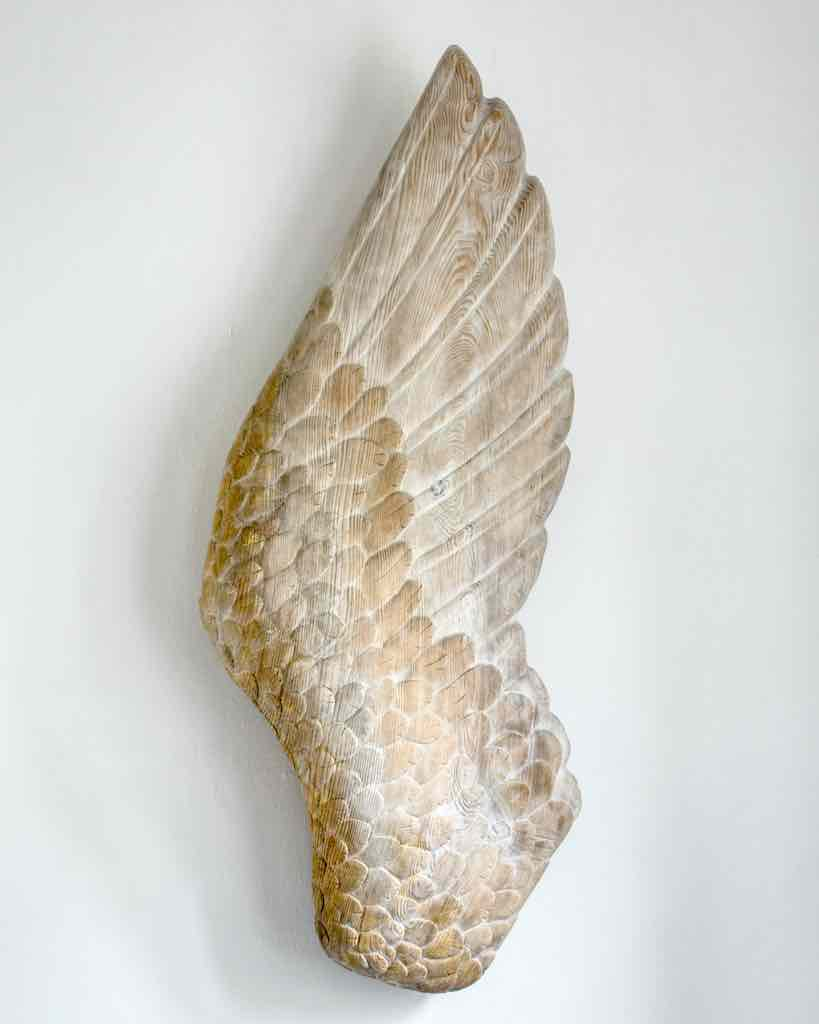 This gorgeous angel's wing is in the north chapel.