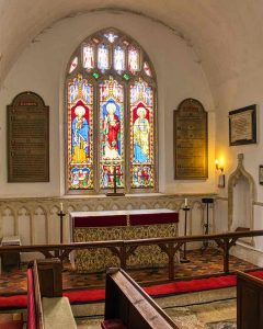 Chancel Church Interior 15th Century Medieval Altar Window East Devon Offwell