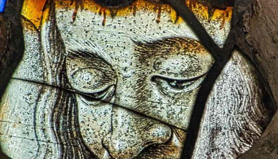 Christ Crucifixion Medieval Stained Glass Offwell