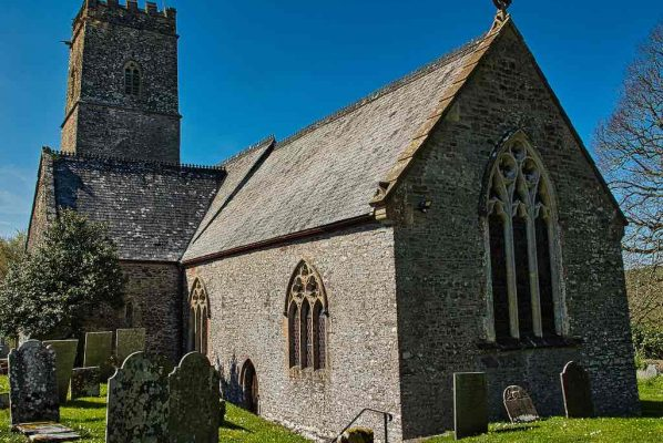 Church Exterior 15th Century Medieval Stonework Tower Marwood