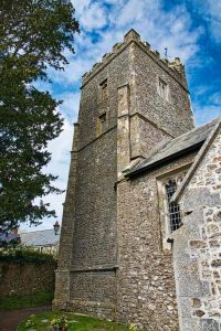 Church Exterior Tower West Medieval 15th Century Offwell