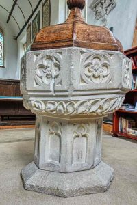 Font Stone Carving Plain Beerstone 15th Century Medieval Offwell