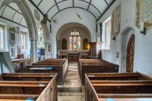Nave Church Interior 15th Century Medieval East Devon Offwell