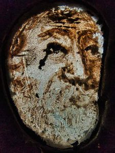 Old Man Medieval Stained Glass Offwell