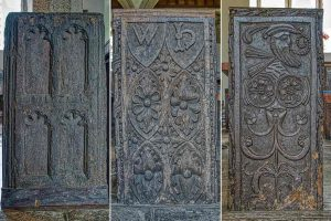 Bench End Gothic Renaissance Wood Carving Plain 15th Century 16th Pews North Bovey