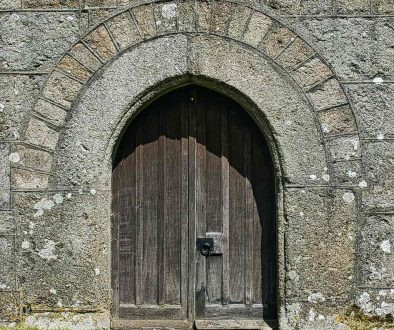Church Door Granite Arch Doorway 15th Century Medieval North Bovey