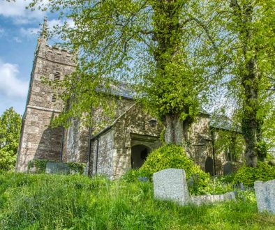 Church Exterior 15th Century Medieval Granite Churchyard Trees Thrushelton