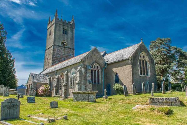 Church Exterior Granite South Devon 15th Century Medieval North Bovey