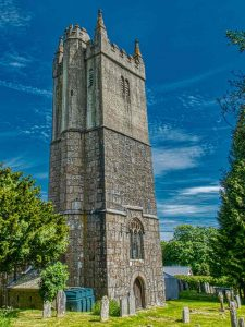Church Exterior South Devon Tower Granite 15th Century Medieval North Bovey