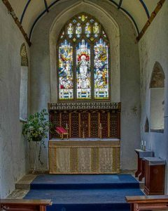 Church Interior Chancel East Window 13th Century Medieval North Bovey