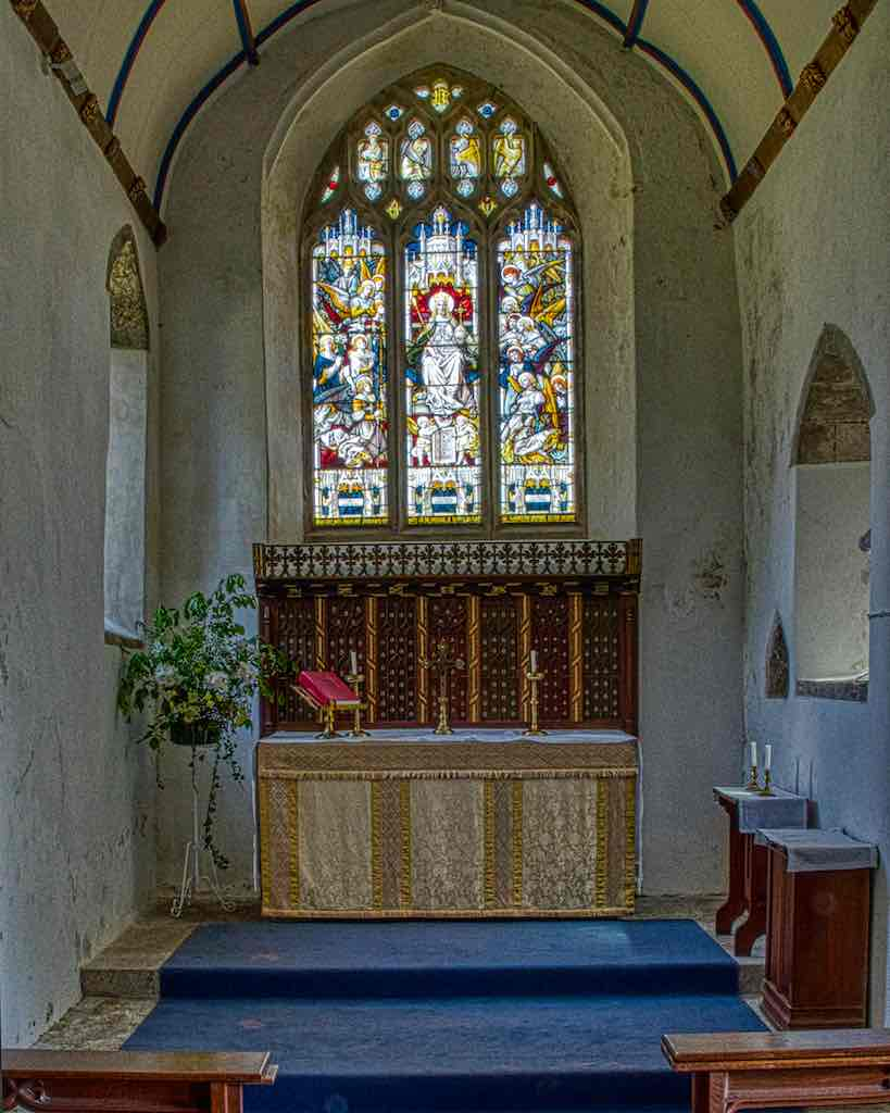The chancel dates from the 1200s, a very special space.