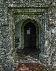 Church Porch Doorway Exterior 15th Century Medieval Granite Thrushelton