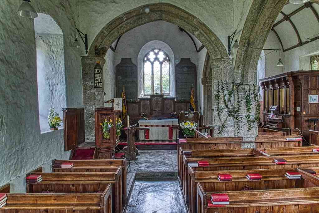 Possibly the original 13th century nave and chancel, though somewhat altered.