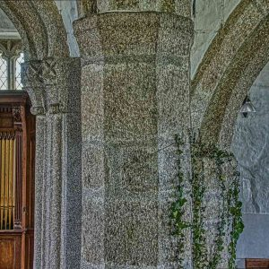 Pillars Carving Granite Stone Plain Capitals 14th 15th Century Medieval Granite Thrushelton