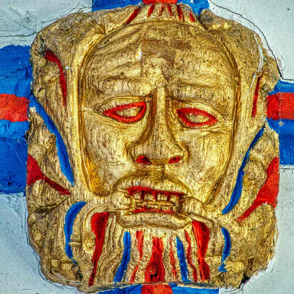This Green Man shows the anguish of being entrapped in the snares of sin.