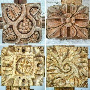 Roof Boss Wood Carving Plain Foliage Thrushelton