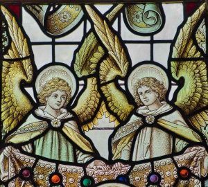 Stained Glass Angels Jewels Victorian 19th Century North Bovey