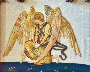 Angel Altar Cloth Antependium Needlework Embroidery Kneeling Sampford Courtenay
