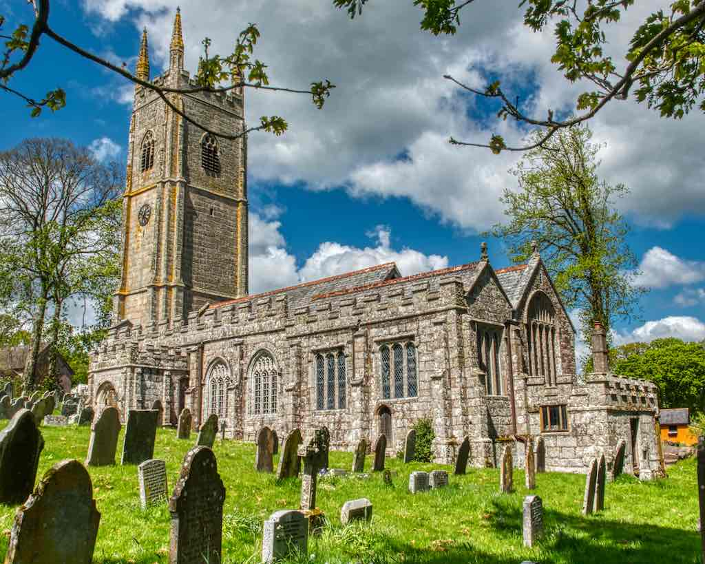 Sampford Courtenay church of St Andrew; look at all that beautiful granite stonework.