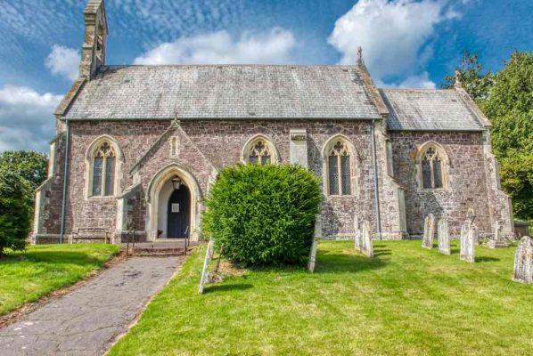 Church Exterior Victorian 19th Century Neo Gothic Chevithorne