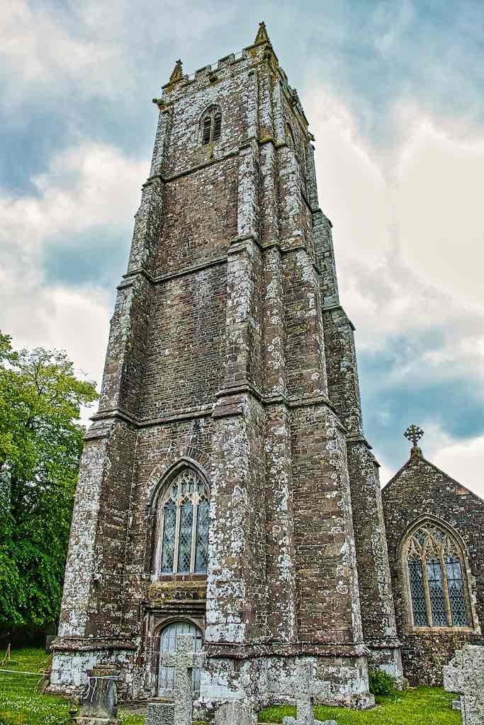 The very tall 15th century tower of Bishop's Nympton