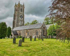 Church Exterior West Tower Churchyard Graveyard 15th Century Medieval Bishops Nympton