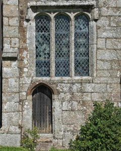 Church Priests Door Window Granite Stonework 15th Century Medieval Sampford Courtenay