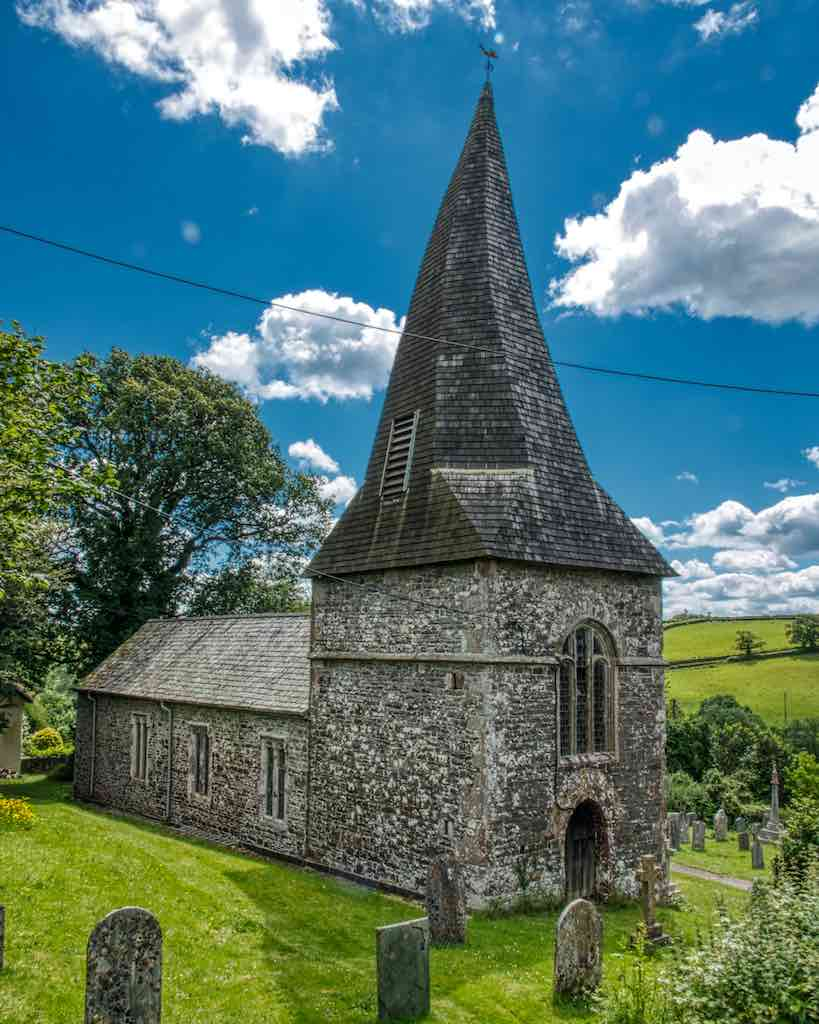 West Worlington church received a grant from the Trust to help protect the spire from lightning.
