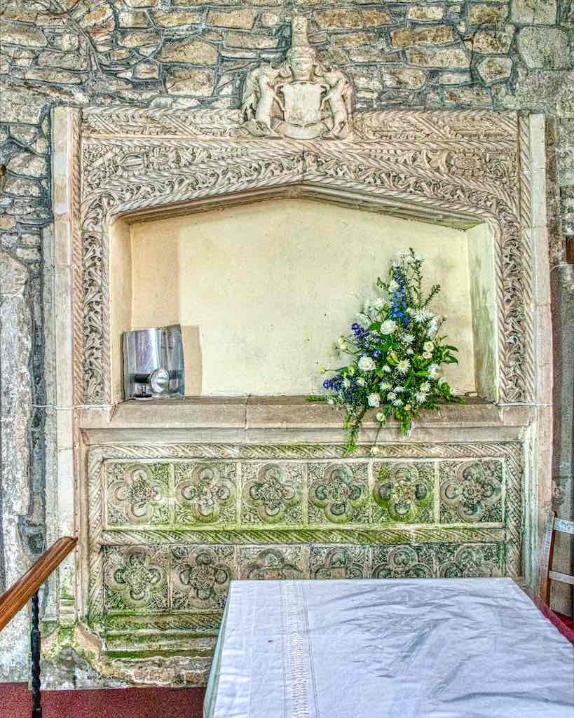 The early 16th century Easter Sepulchre, a rare survival.
