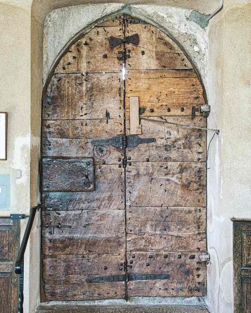 The old medieval door