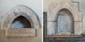 Piscina Stonework Medieval Sampford Courtenay