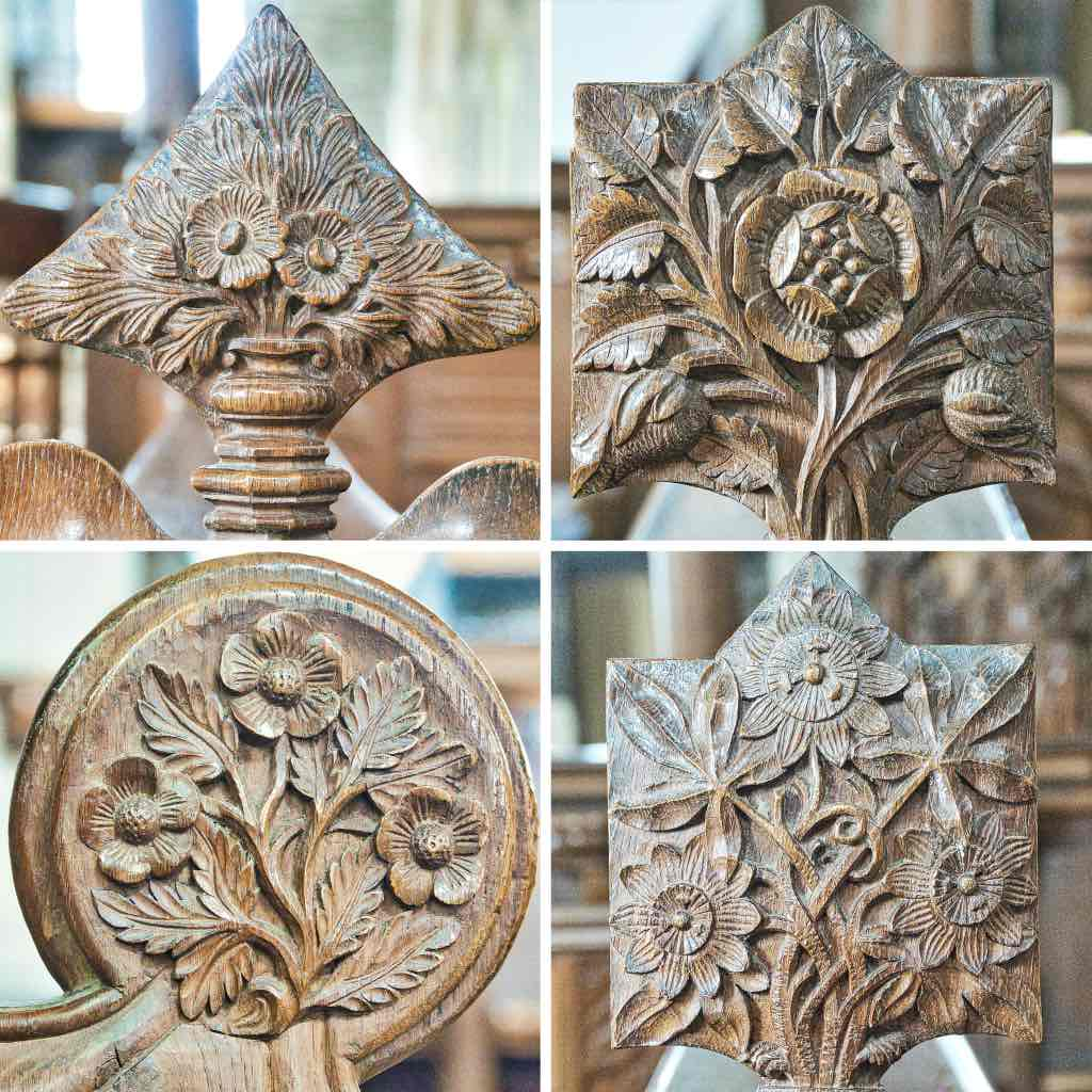 Wonderful carved flowers from the 1885-9 restoration