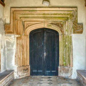 Porch Door Main Church South Entrance Stone Carving Plain Label Stops Ermington