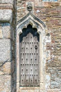Priests Door Ogee Arch 14th Century Stone Carving Plain Old Door Medieval Ermington