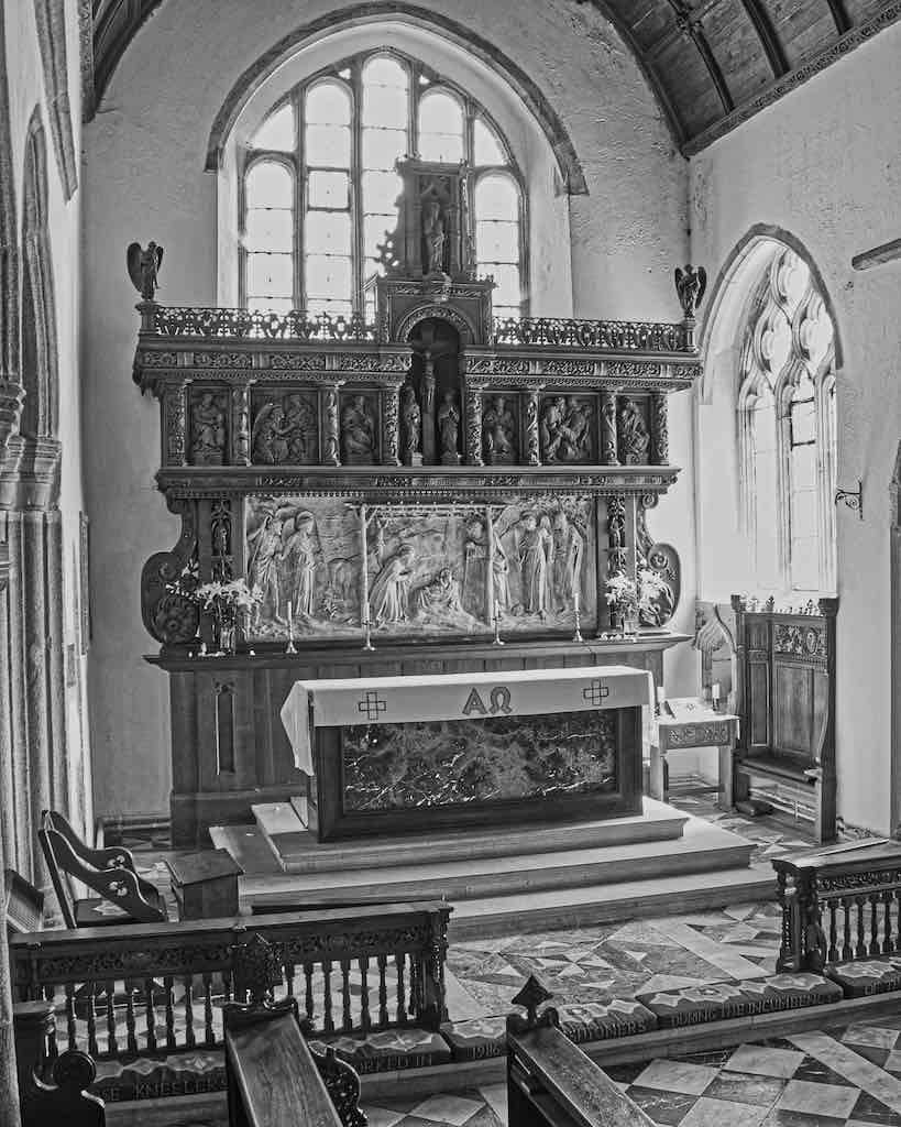 The Ermington altar back (reredos) by Violet Pinwill. Words fail me.