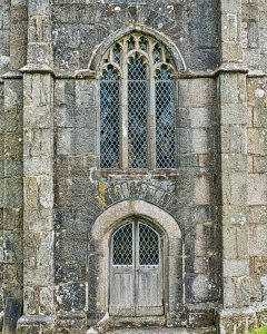 Church Door Window 15th Century Granite Stonework Medieval Dartmoor West Tower Throwleigh