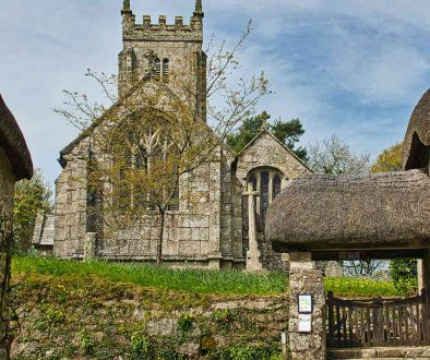 Church Exterior 15th Century Granite Stonework Medieval Dartmoor Throwleigh