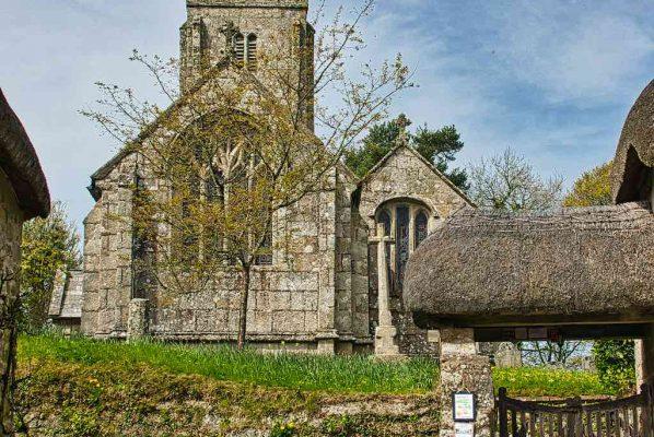 Church Exterior 15th Century Granite Stonework Medieval Dartmoor Throwleigh